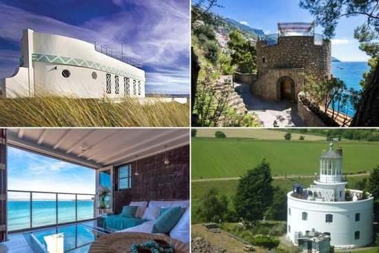 英国《镜报》盘点了全世界度假胜地的十大沿海短租豪宅,从历史悠久的堡垒、洞穴房屋到改造灯塔,这些豪宅充满设计师的创意。当然如果游客想要追随好莱坞一线明星(比如乔治-克鲁尼)的脚步,到意大利著名的阿马尔菲海岸欣赏绝美的风景和有如水晶般的蓝色海面,甚至可以选择海岸边悬崖上的城堡。